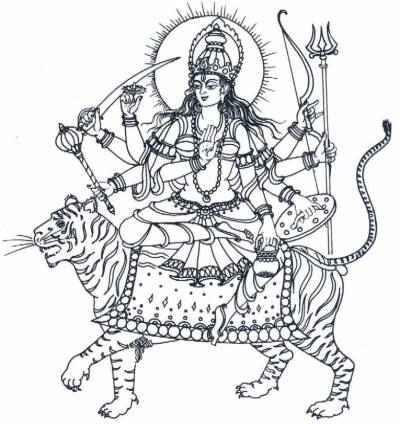 Durga on a tiger